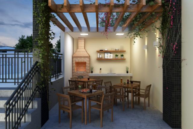 Projeto da área de lazer do Bienvenido Residencial, empreendimento da Exkalla, com paisagismo de Fernanda Favero.