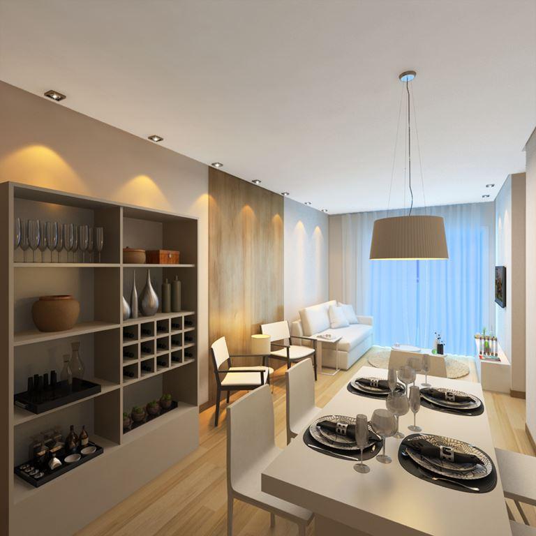 Living do apartamento do Residencial Rhône