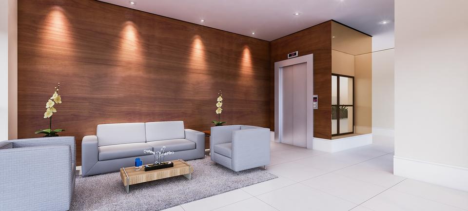 Os elevadores do Residencial Piemonte continuam funcionando mesmo com a falta de energia. O condomínio é equipado com um gerador de energia a diesel.