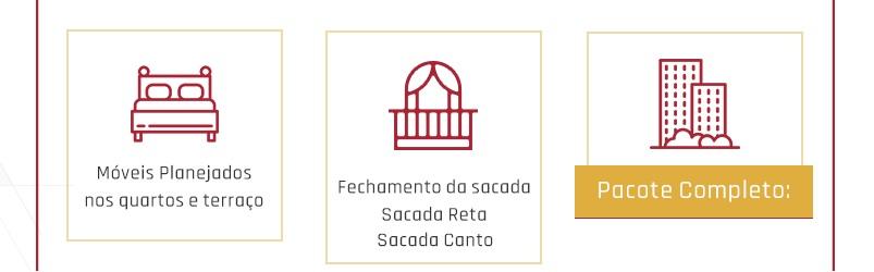 Possibilidades de personalização do Paradiso, apartamento para investidores.